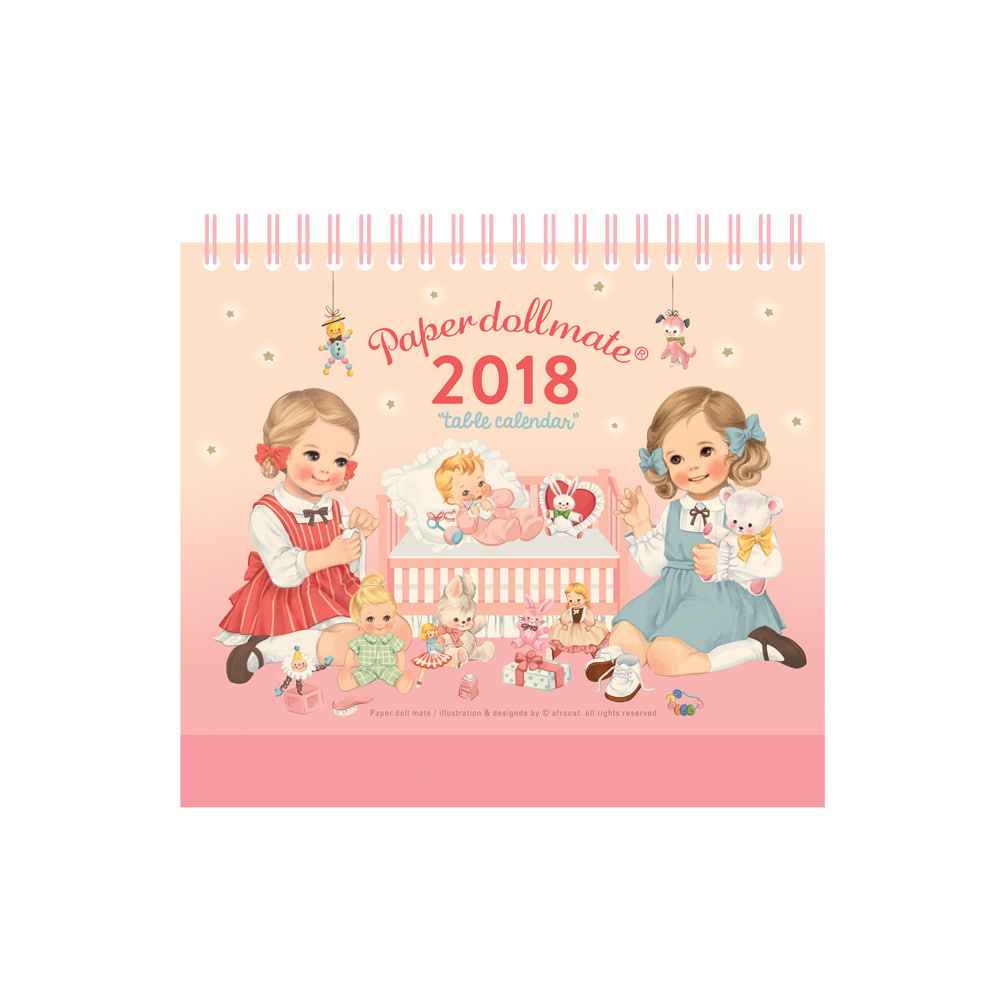 paper doll mate table calendar 2018