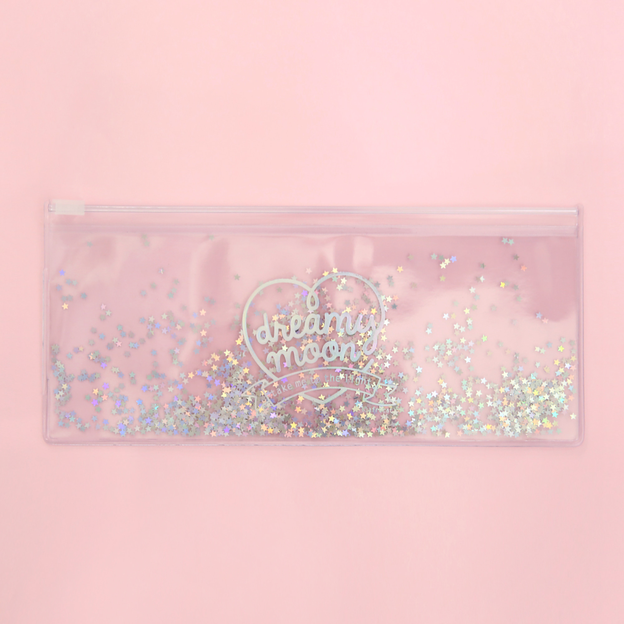[Sold out] Pinky holic clear pouch_P_6.Glitter_Milky way