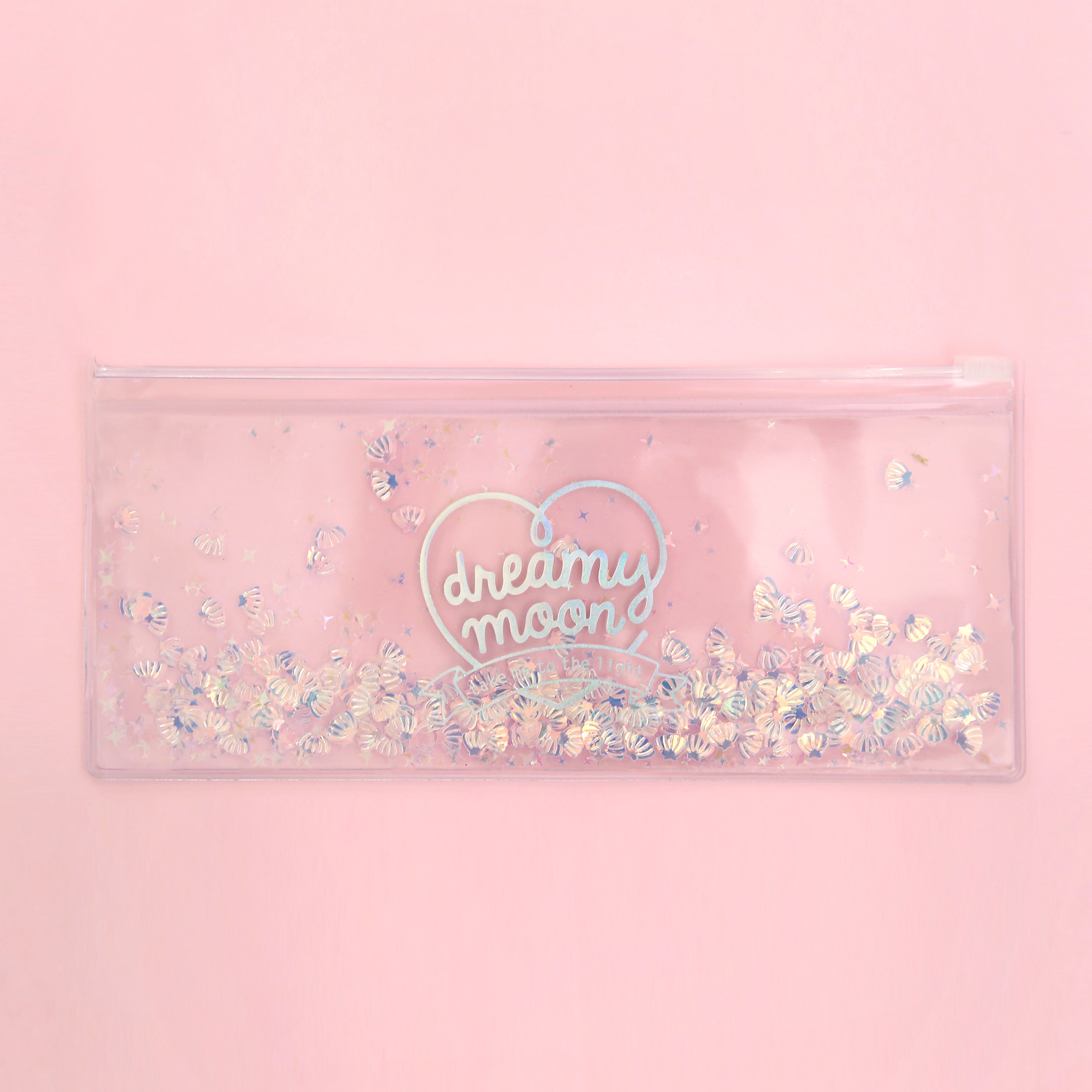 [Sold out] Pinky holic clear pouch_P_4.Glitter_ Shell