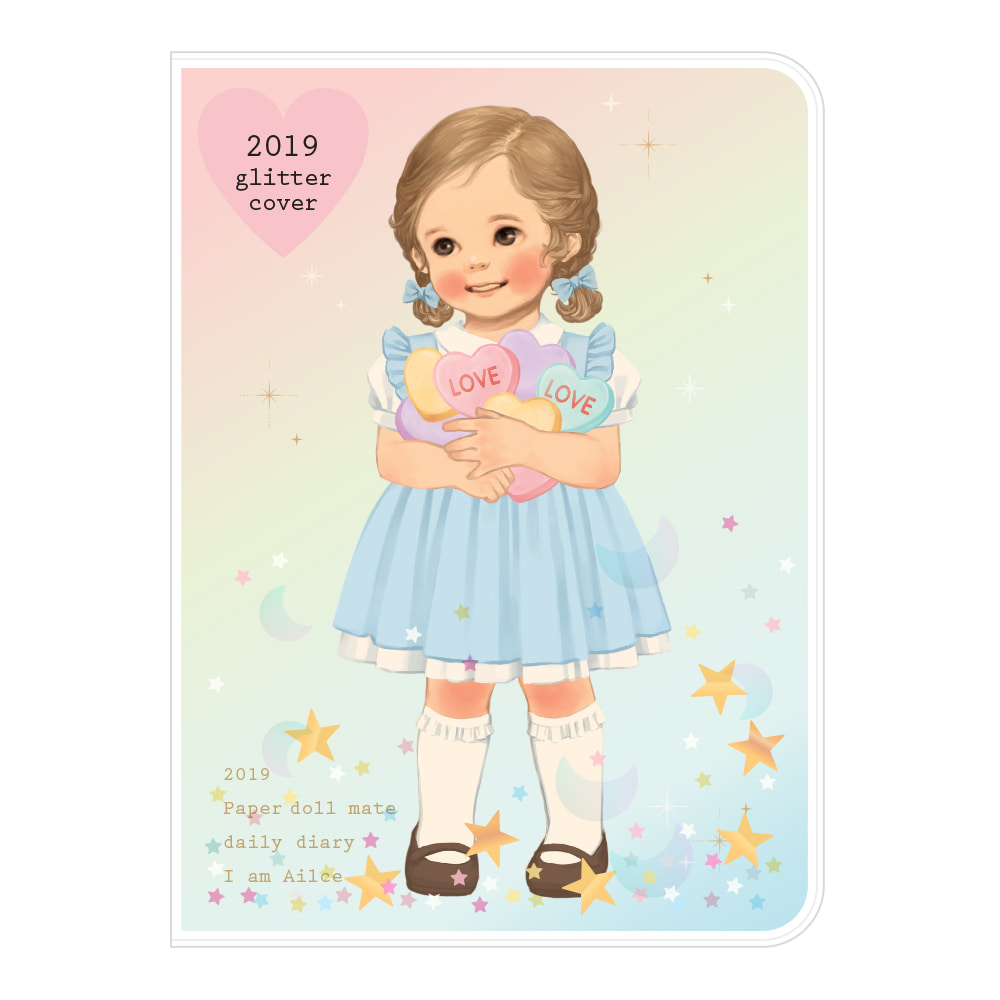 Paper doll mate daily diary 2019 _ glittering Alice