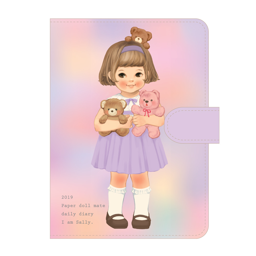 [Sold out] Paper doll mate daily diary 2019_Sally