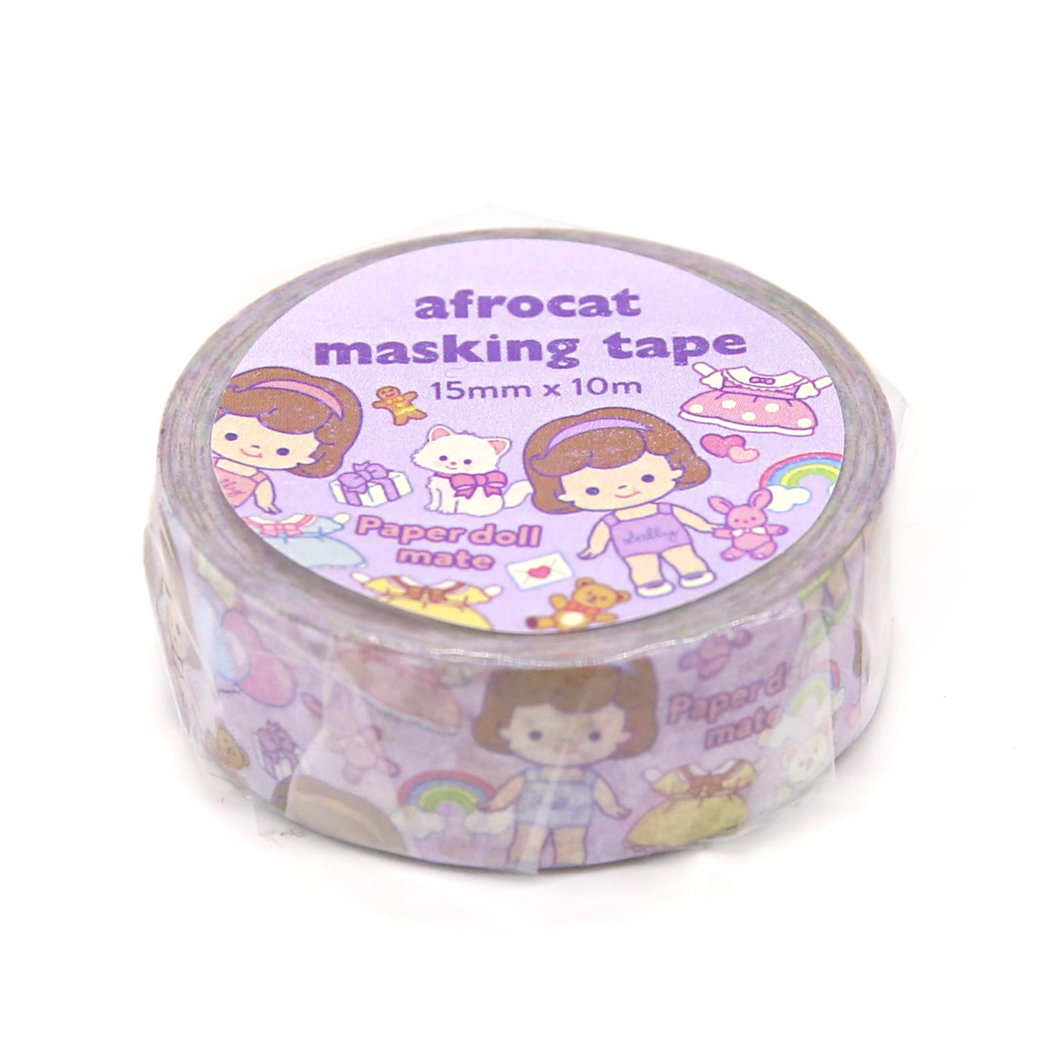 [afrocat masking tape] 18. Paper doll mate_minime  sally 15mm