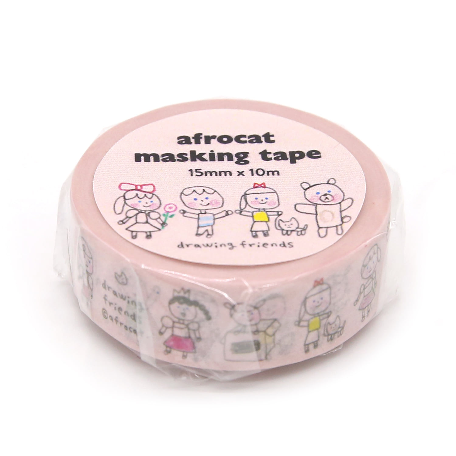 [afrocat masking tape] 9. Drawing friends_15mm
