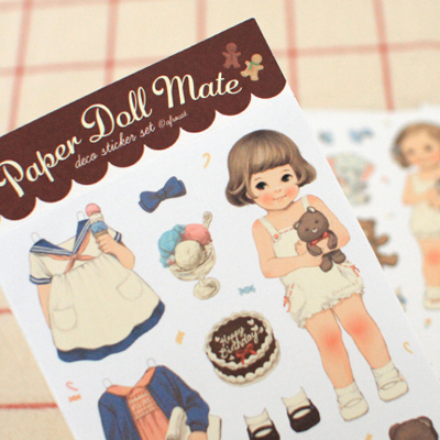 paper doll mate paper sticker 1 (종이)