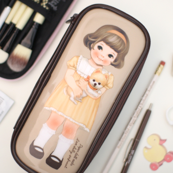 [sold out] paper doll matemake up pouch P_Sally