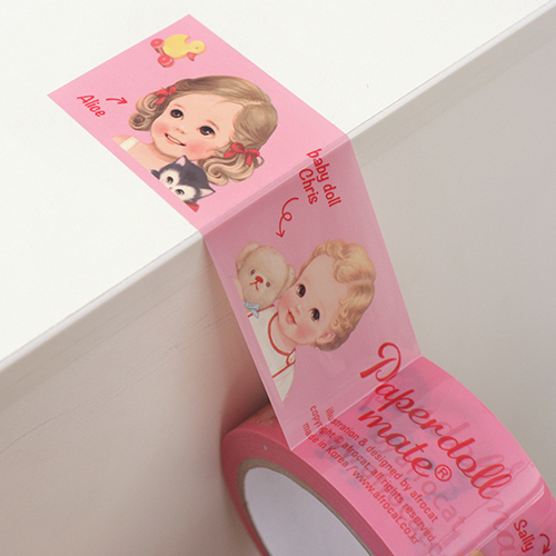 [only afrocat shop]paper doll mate box tape