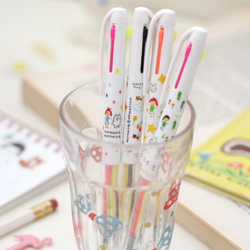 3 color multi pen_murmuring[fluorescent + black]