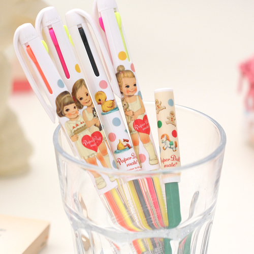 3 color multi pen_paperdoll mate[fluorescent + black]