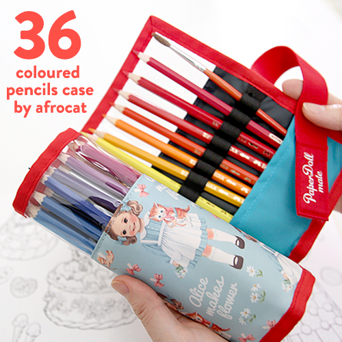 36 color pencils case