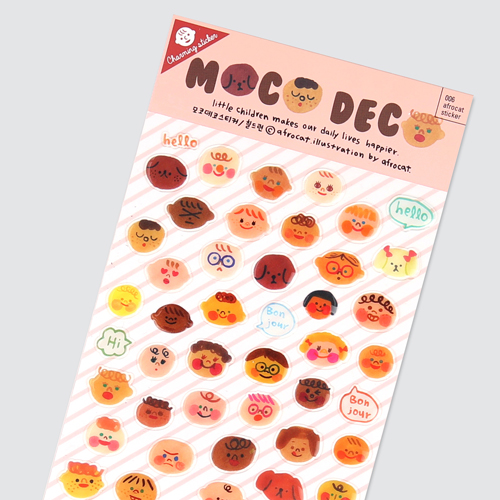 afrocat sticker 006 moco deco sticker ver.children