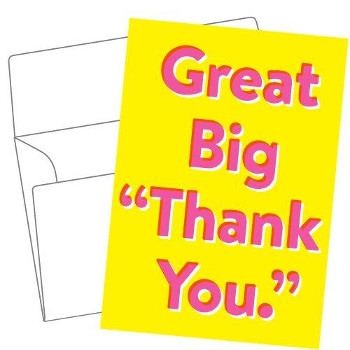 Lithography greeting card 14 Big thank you
