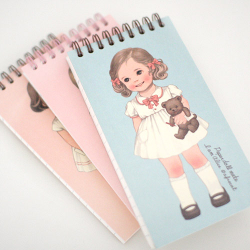 [sold out]  paper doll matespring memo-book