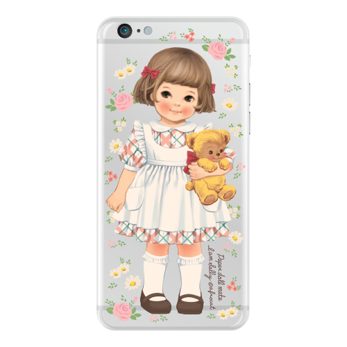 [20%] Clear jelly casePaper doll mate_ Sally/ flower