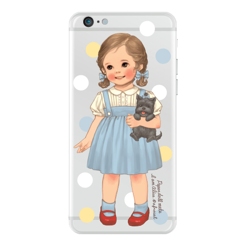 [20%] Clear jelly casePaper doll mate_ Alice/ dot