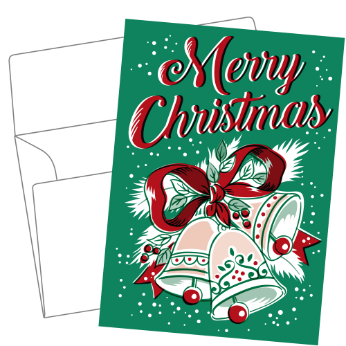 Lithography greeting card 21 Christmas bell