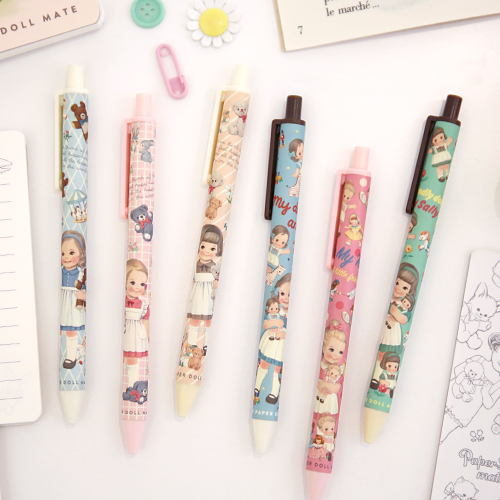 Paper doll matetick-tock ball pen