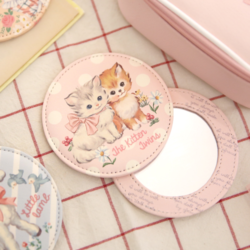 paper doll mate pocket mirror_Kitten