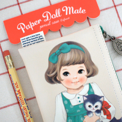 paper doll matepencil case2_Sally