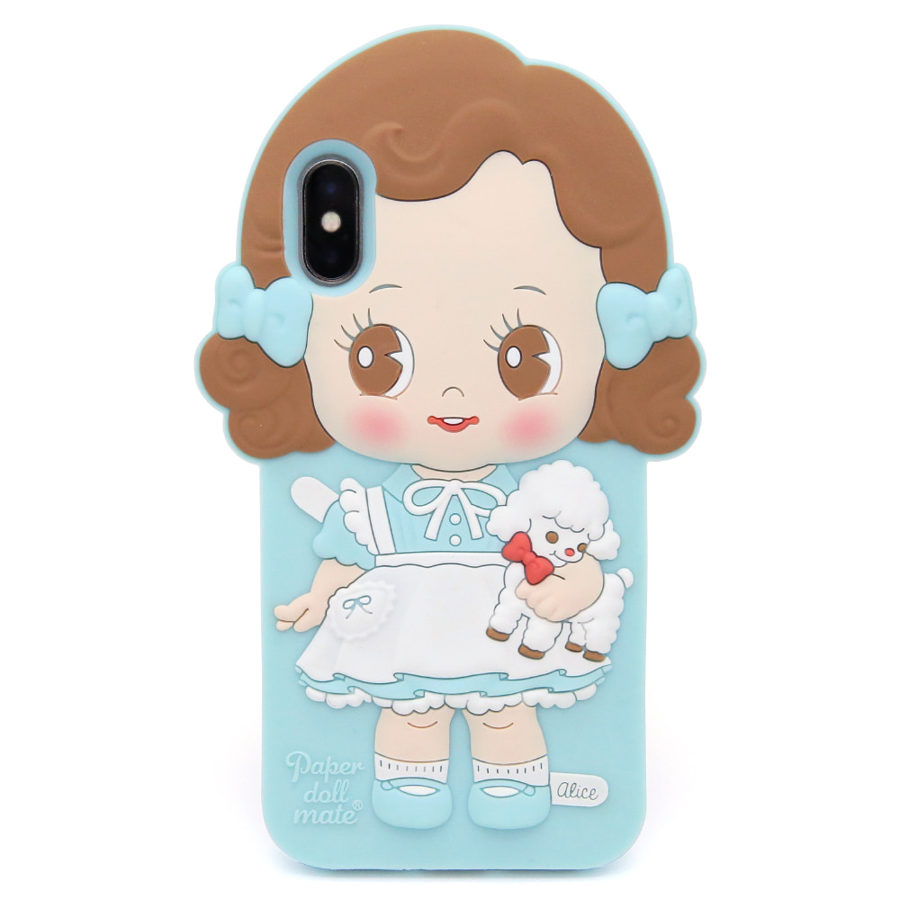 Paper doll mate silicon case  _Alice / iPhone X