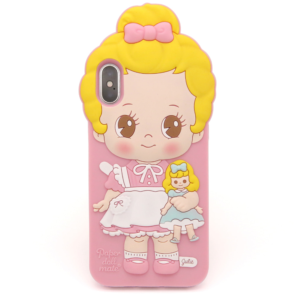 Paper doll mate silicon case  _Julie / iPhone X