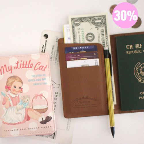 [스크래치 30% 할인 상품]paper doll mate passport cover