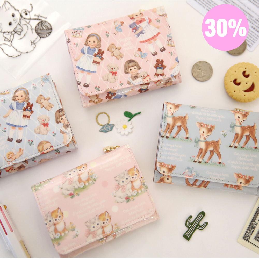 [스크래치 30% 할인 상품]mini wallet_paper doll mate_2