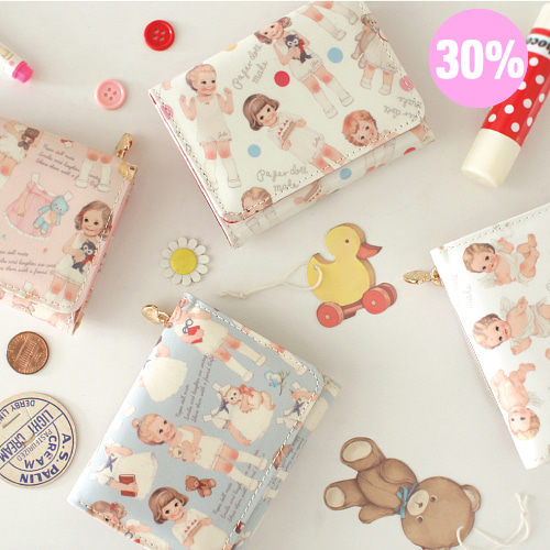 [스크래치 30% 할인 상품]mini wallet_paper doll mate