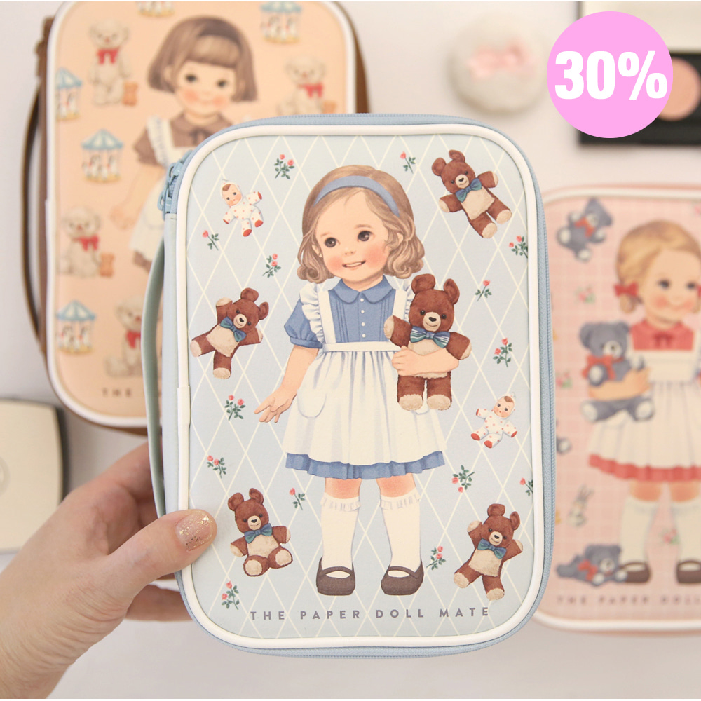 [스크래치 30% 할인 상품]paper doll mate Better beauty pouch M