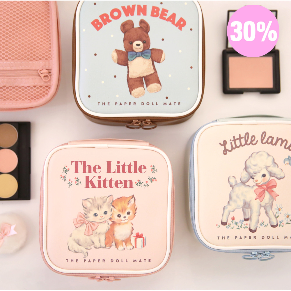 [스크래치 30% 할인 상품]paper doll mate Better beauty pouch S
