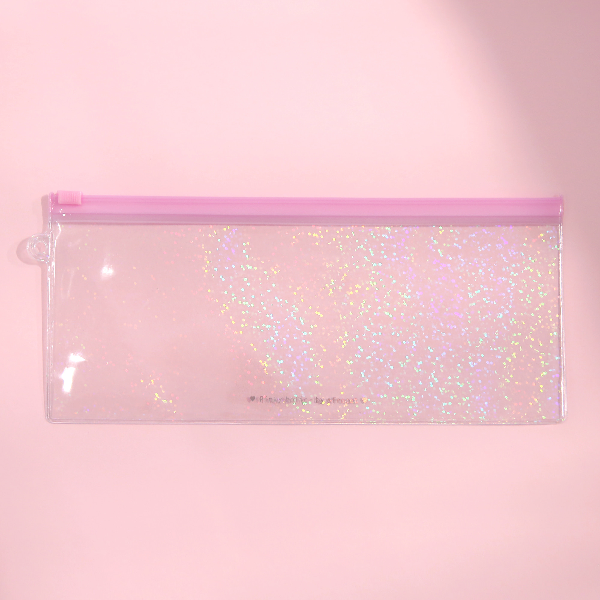 Pinky holic clear pouch_P_1.hologram pink