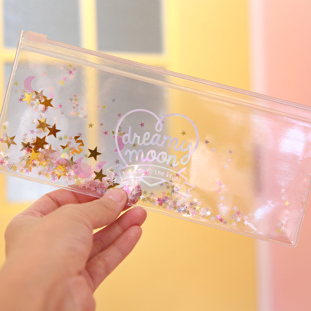 Pinky holic clear pouch_P_8.Glitter_Moon Crystal