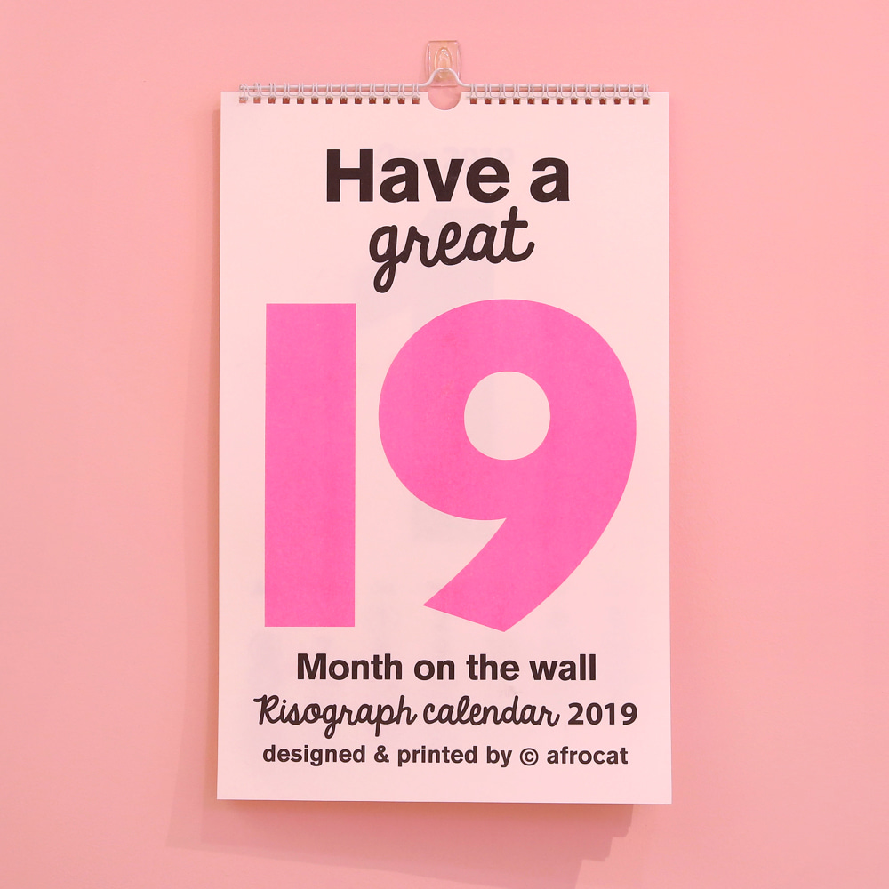 2019  Month on the wall - type B