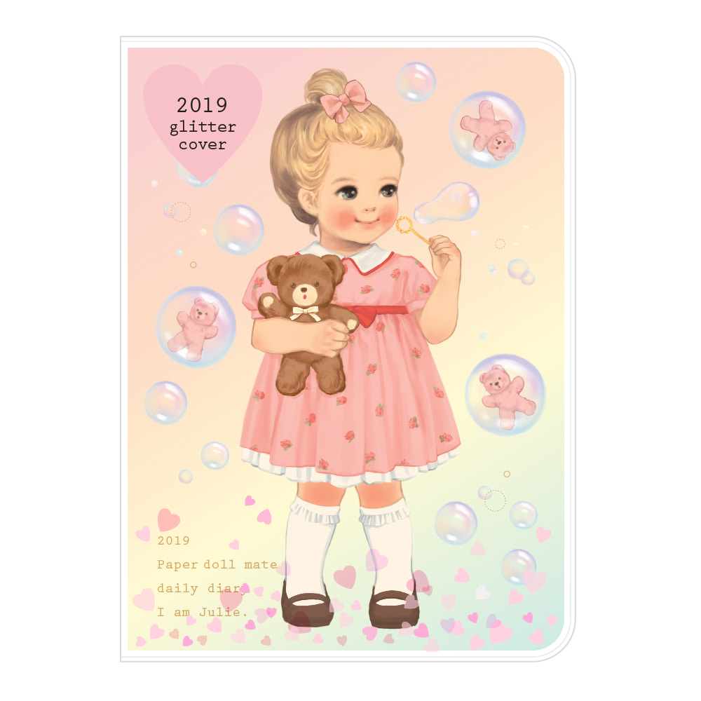 Paper doll mate daily diary 2019_ glittering Julie