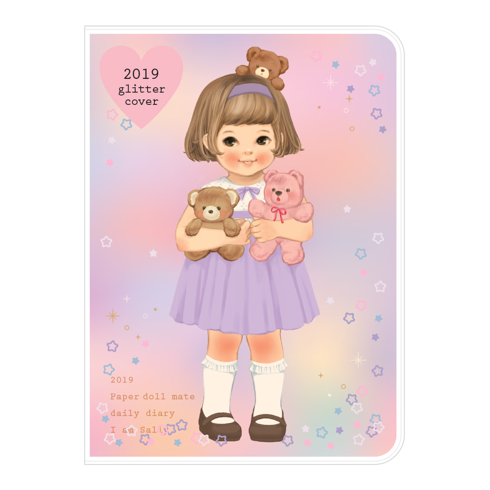 Paper doll mate daily diary 2019_ glittering Sally