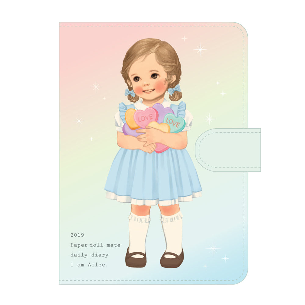 Paper doll mate daily diary 2019 _Alice