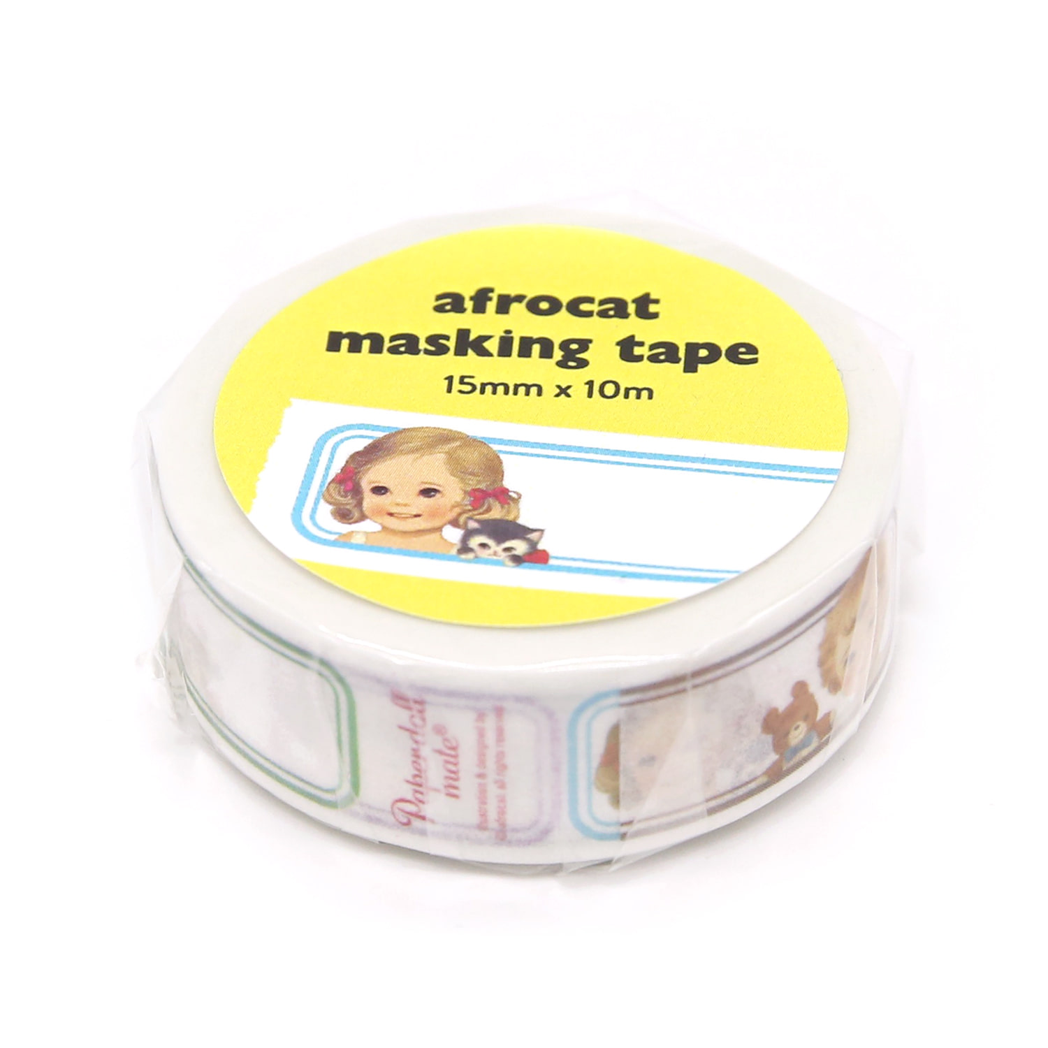 [afrocat masking tape] 7. Paper doll mate_name label 15mm