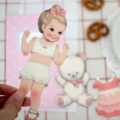 [sold out] paper doll mate card_Julie