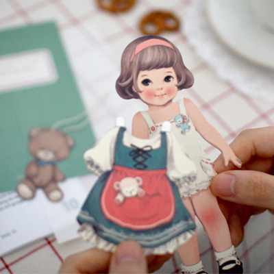 paper doll mate card_Sally