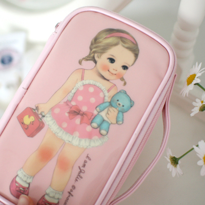 [sold out] paper doll matemake up pouch M_Julie