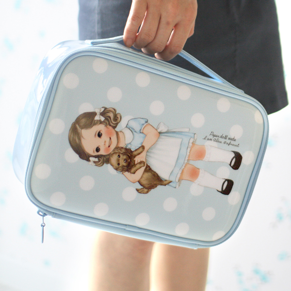 [sold out] paper doll matemake up pouch XL_Alice