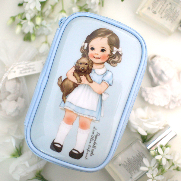 [sold out] paper doll matemake up pouch S_Alice