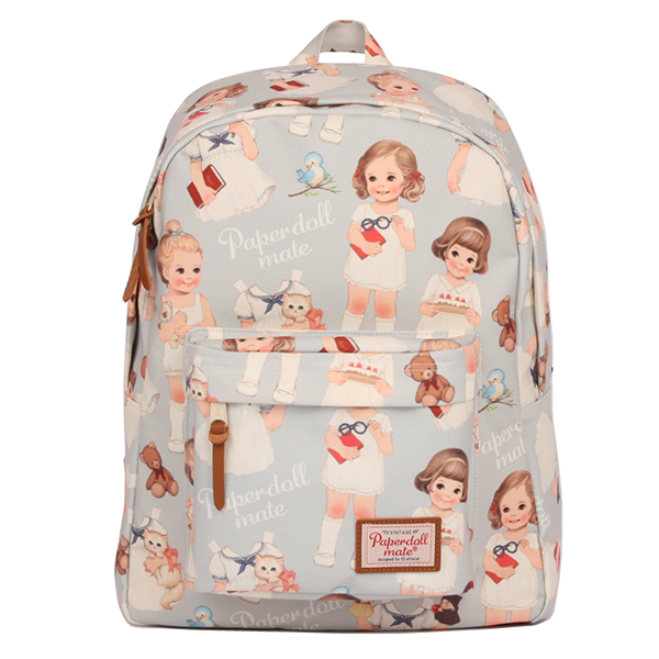 paper doll mate backpack_blue gray