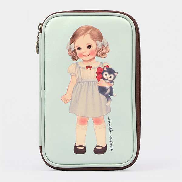 [sold out] paper doll matemulti pen pouch L_Alice