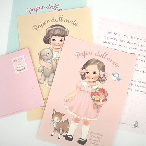 paper doll mate letter set