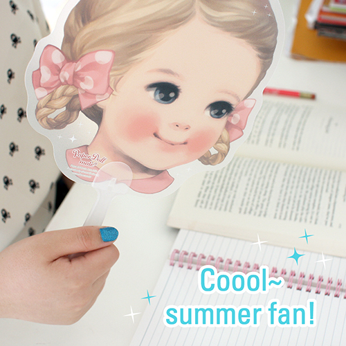 paper doll matecoool summer fan