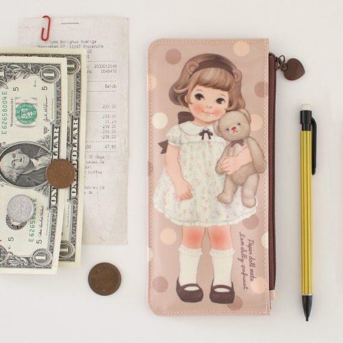*20%쿠폰발행* Oil-cloth flat pouch_P