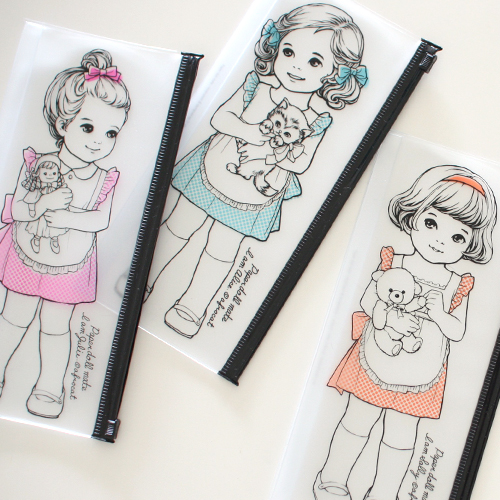 paper doll mateclear pouch.P