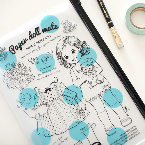 paper doll mateclear pouch.L