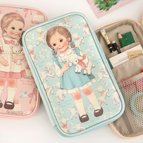 [sold out] paper doll matemulti pen pouch L ver.2