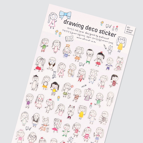 afrocat sticker 011 drawing deco sticker